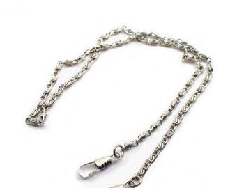 3 Silver Purse Chains 48 Inch 120cm