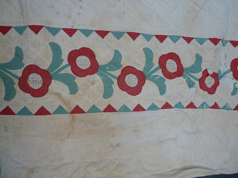 Cutter Quilt/vintage quilt/flower quilt/Cutter Quilts/Old Quilts/Antique  Quilts/old Vintage Quilt/Quilts/Vintage Applique Quilts/Quilt/