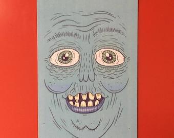 Blue Face Magnet