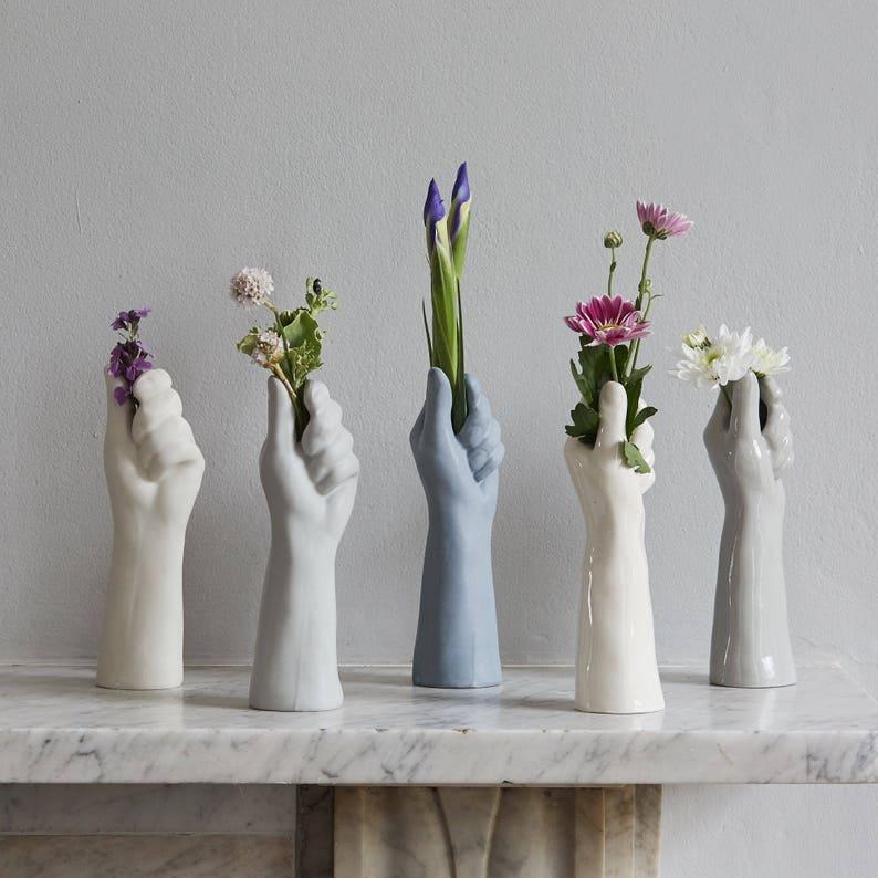 White Porcelain  Vase Mothers' Day Gift Wedding House image 0