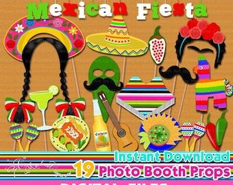Mexican Fiesta Props Etsy