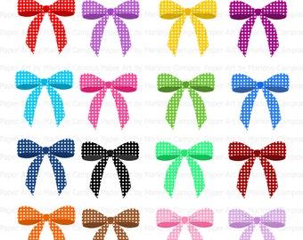 bows clip art digital clipart birthday party clip art etsy