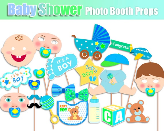 Baby Shower Photo Booth Props Baby Shower Props Baby Boy Props