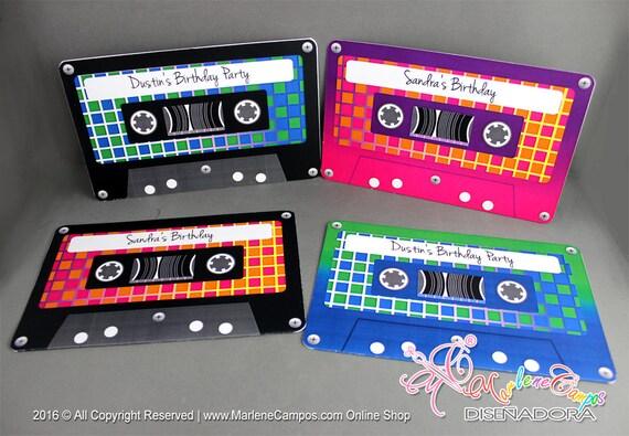 80 s birthday invitation cassette tapes invitation etsy