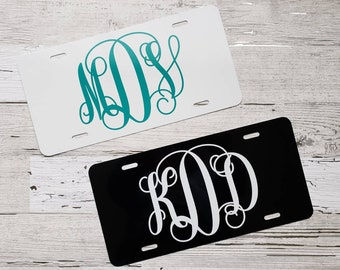 Vanity License Plate French License plate  Custom License Plate  Monogrammed Car Tag  French flag Custom Car Tag Personalized souvenir plate