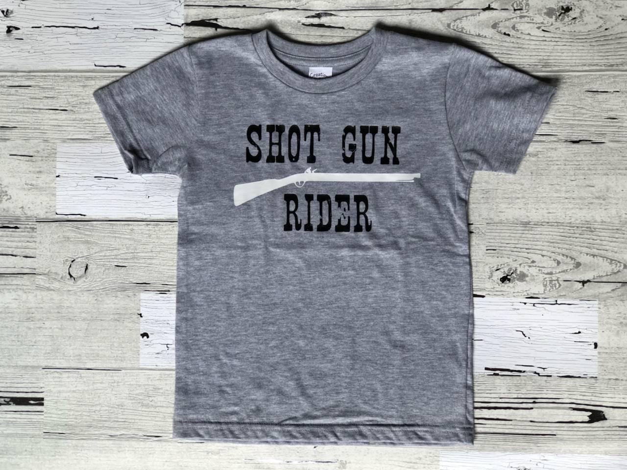 1c96b520b Shot Gun Rider Toddler T-shirt/Cute Toddler Tshirt/Boy or Girl Custom T- shirt/Country Kids Shirt/Shot Gun Rider