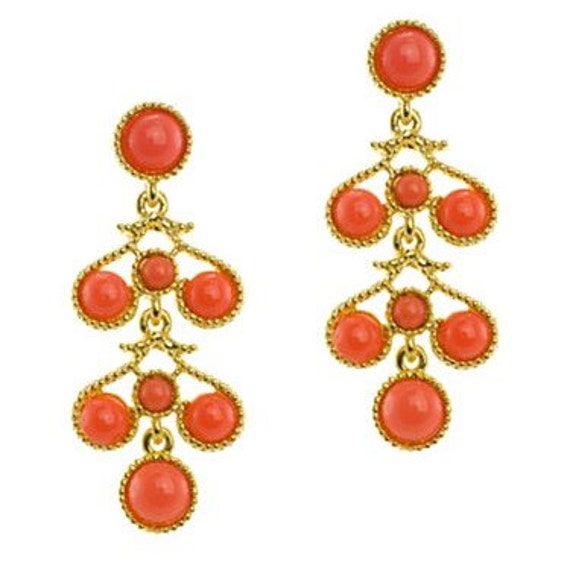 KJL Coral Chandelier Earrings