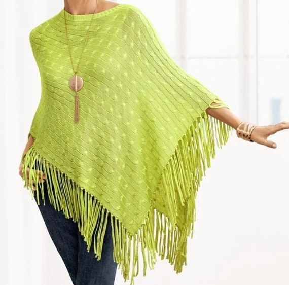 Lime Green Poncho