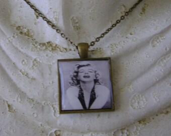 Antique Bronze Marilyn Monroe Necklace