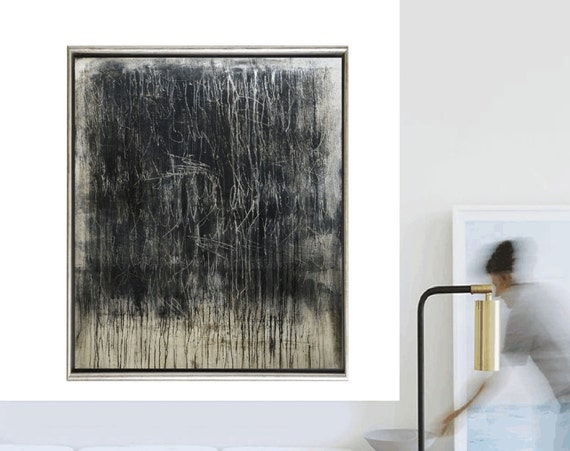 black brown abstract painting, nice oil painting , jolina anthony
