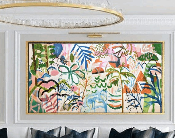 a tropical dream   abstract  painting  very nice  painting by Jolina Anthony