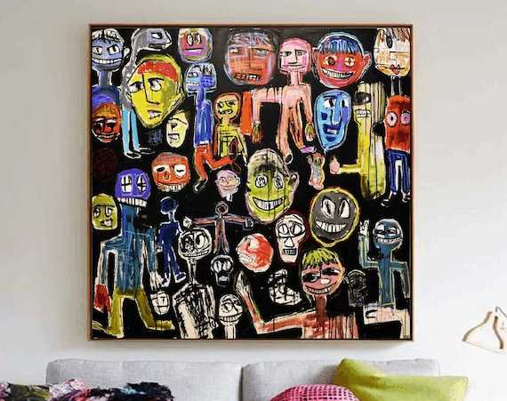 Faces so much abstract painting by Jolina Anthony