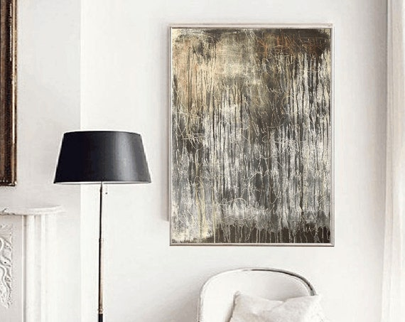 grey brown abstract painting, nice  large painting colorful original painting interesting oil painting , jolina anthony abstract art