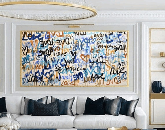 love so much abstract painting   modern original painting,by   Jolina Anthony