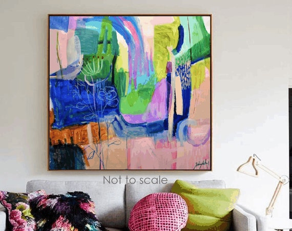 colorful  abstract painting  original painting  by Jolina Anthony
