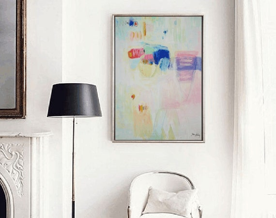 multicolor abstract painting, nice  large painting colorful original painting interesting oil painting , jolina anthony abstract art