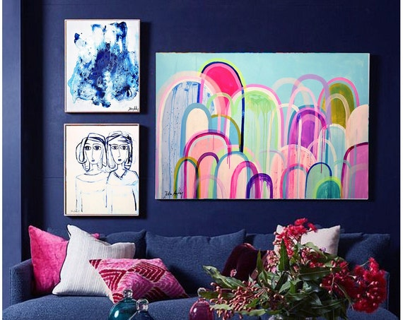 multicolor  abstract  painting,nice abstract art   by   Jolina Anthony