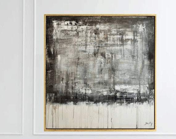 black  white abstract Painting   original painting , by Jolina Anthony
