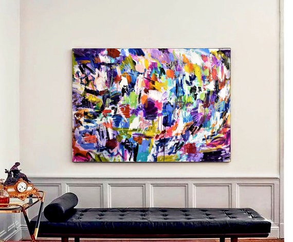 huge  colorful   abstract painting by Jolina Anthony