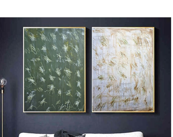 """set of 40""""original   abstract  painting  very nice  painting by Jolina Anthony"""