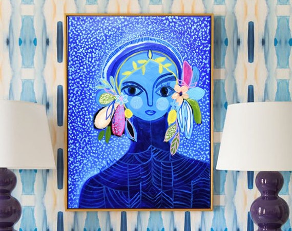 framed women    abstract painting, colorful abstract art by Jolina Anthony