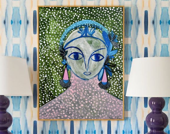 rio women    abstract painting, colorful abstract art by Jolina Anthony