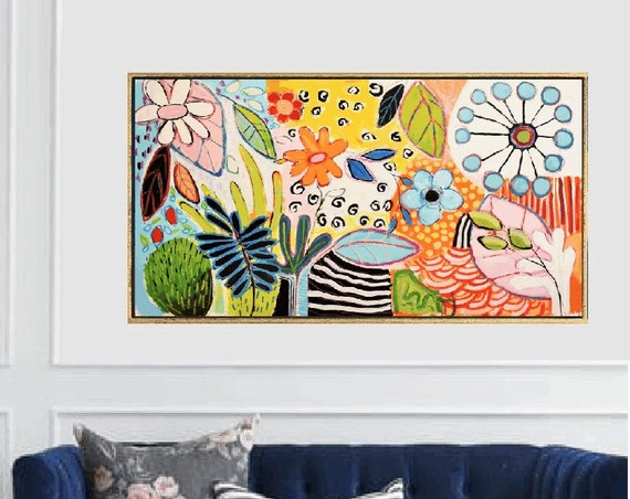 colorful flower    abstract painting by Jolina Anthony