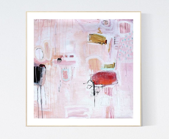 abstract painting,the Life Art Print  by Jolina Anthony