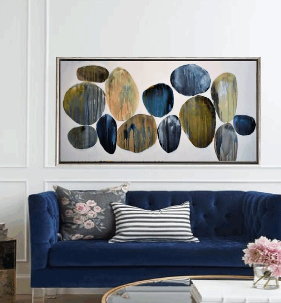 "stones 64"" abstract painting, nice  large painting colorful original painting interesting oil painting , jolina anthony abstract art"