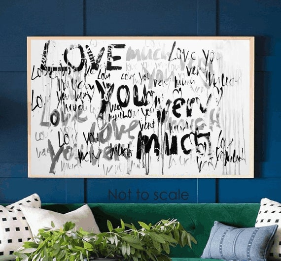 Love you abstract painting xx wall art xx original painting nice wall decor xx oil painting xx abstract art