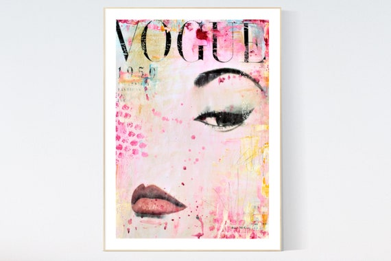 vouge 1950 s   abstract painting, Art Print  by Jolina Anthony