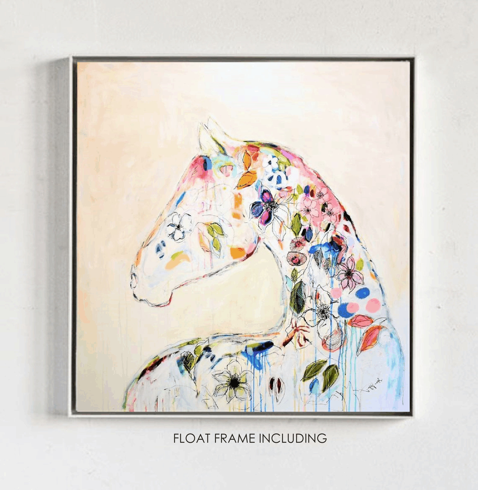 Abstract Art Colorful Horse Abstract Painting By Jolina Anthony