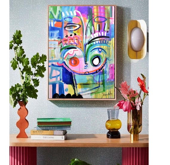 "colorful 40""   abstract  painting girl abstract art    byJolina Anthony"