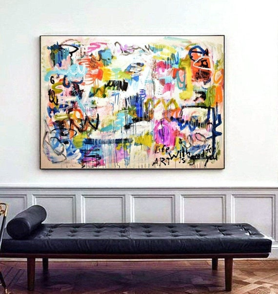 abstract painting life with art colorful   by Jolina Anthony