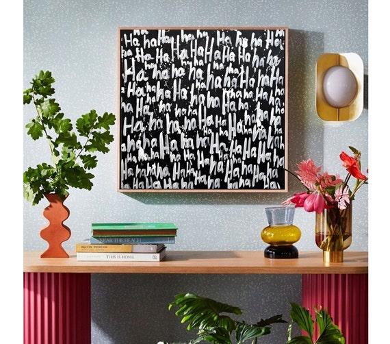 Ha Ha Ha Ha....   abstract painting by jolina anthony wall decornice   oil painting