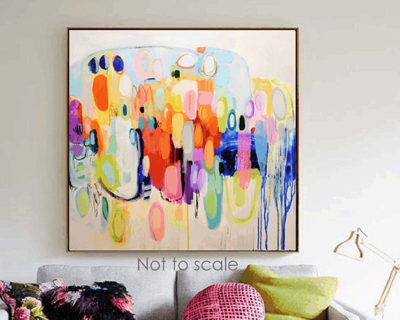 colorful big   abstract painting nice  original painting by Jolina Anthony, abstract art
