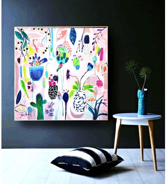 abstract painting colorful original painting  by Jolina Anthony
