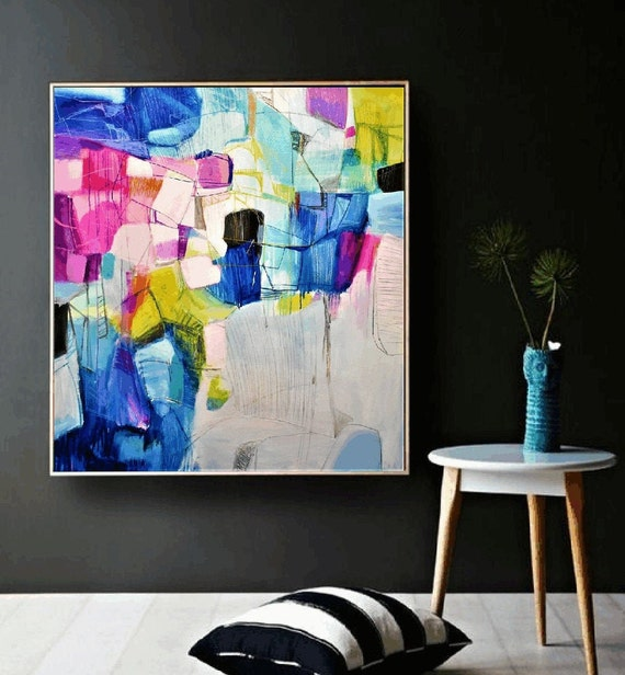 colorful    abstract painting,, oil painting ,, large abstract painting,  Acrylic painting  ,original painting