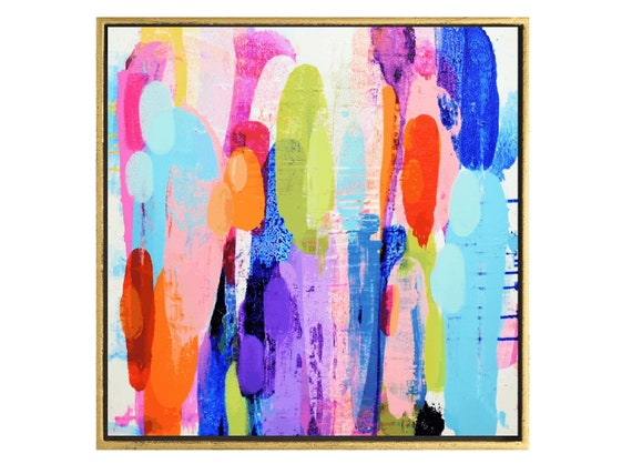 colorful  textured abstract painting by  jolina anthony