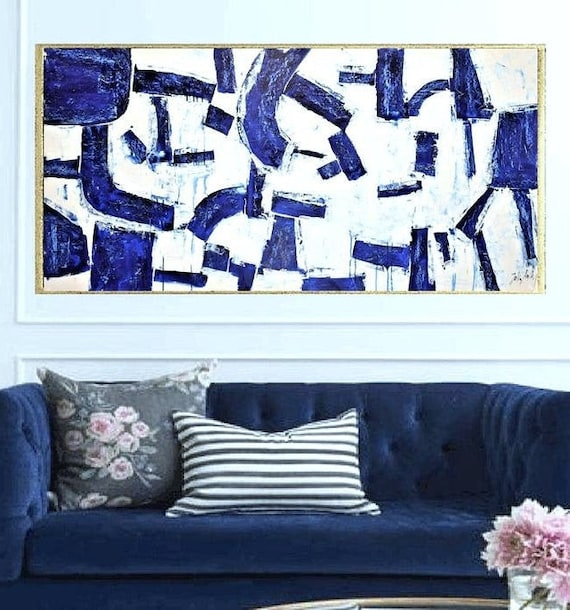 abstract Art nice   abstract painting, blue  by Jolina Anthony