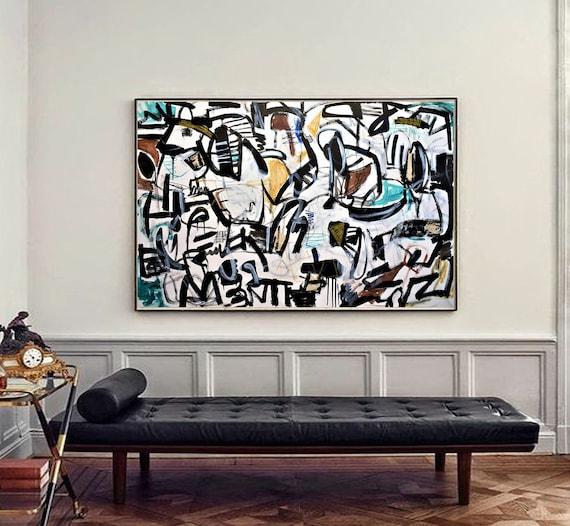 "60""x40""mid century   large  wall decor by Jolina Anthony"