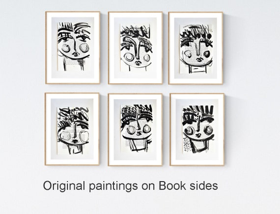 black and white womens book sides    abstract painting by Jolina Anthony