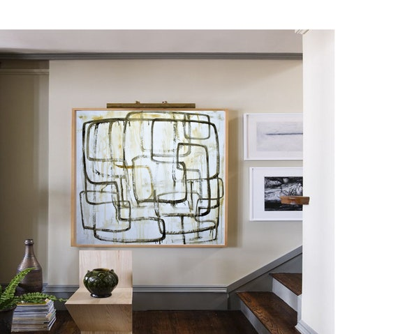 "40"" abstract painting textured original abstract painting nice abstract art  by jolina anthony oil painting"