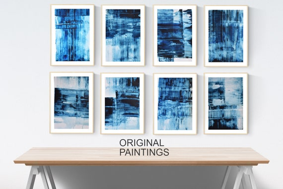 blue paper  abstract painting wunderful abstract art artist jolina nice original painting