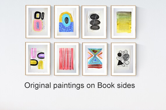 8 multicolor book sides  abstract Painting by jolina anthony