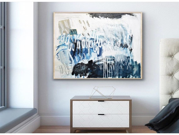 """abstract painting  """"mid century""""   Gallery Artwork  original painting  by Jolina Anthony"""