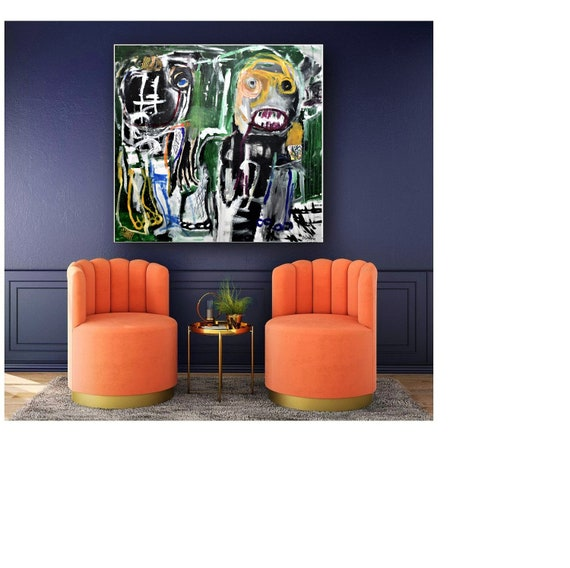 brut  art abstract painting nice wall decor   colorful original painting,by   Jolina Anthony