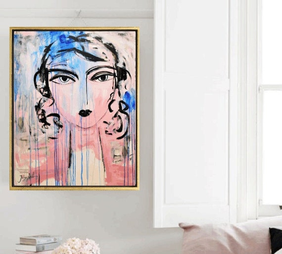 Colorful Woman   abstract  painting  very nice  painting by Jolina Anthony