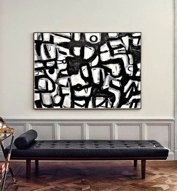black white   abstract painting   textured  original painting,by   Jolina Anthony