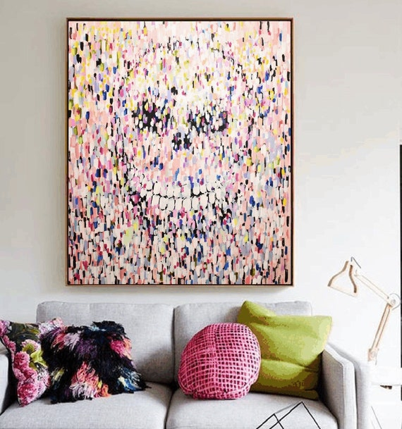 colorful scull   abstract painting by Jolina anthony